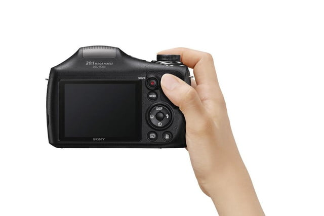 new sony cybershot cameras announced 2014 cp plus dsc h300 shooting rear 1200