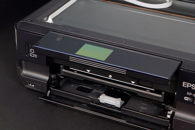 EPSON XP 610 front tray open