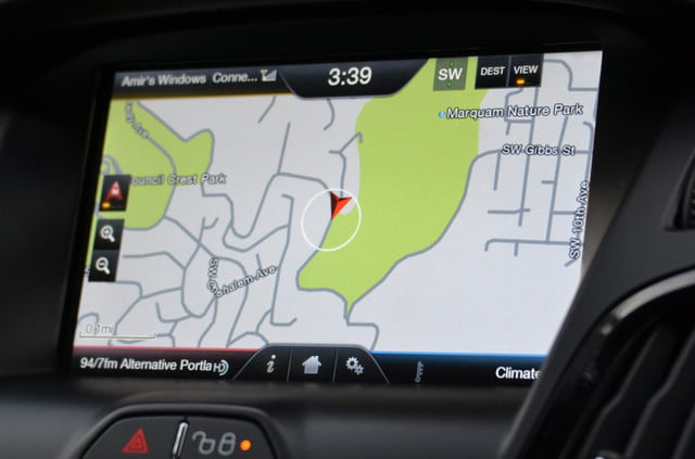 ford focus electric navigation map