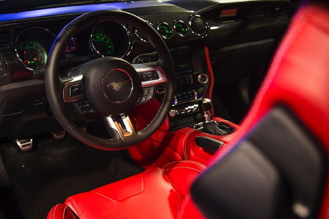 galpin auto sports unveils first production rocket mustang galpinrocket interior 01