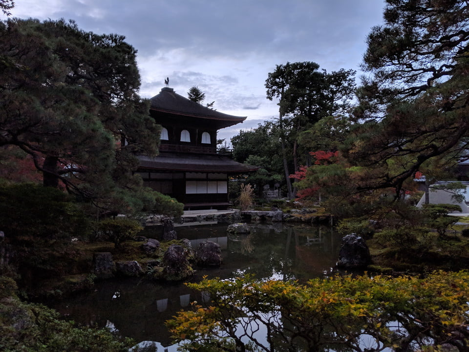 Google Pixel 3 Evening Kyoto temple at dusk