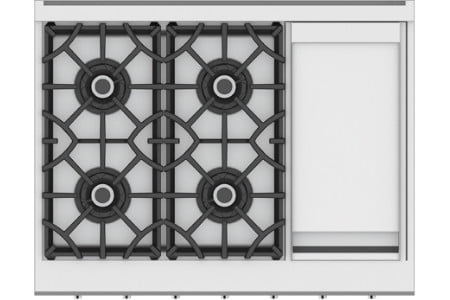 hestan commercial cooking suites home chefs 36 inch 4 burner rangetop with 12 griddle  krt series
