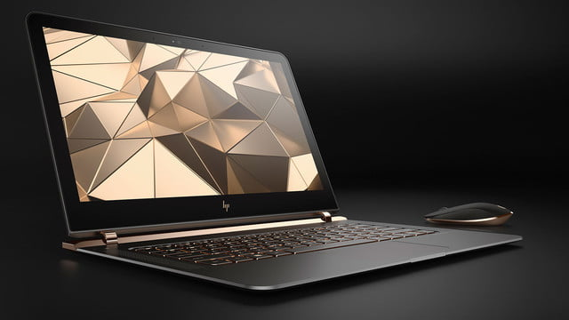 hp spectre laptop 13 3 right facing paired with wireless mouse