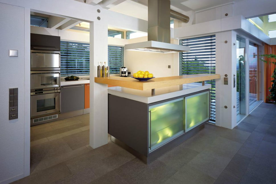 huf haus prefab mansions are ultra luxurious mansion kitchen - Prefabricated Luxury Homes