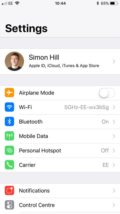 iPhone storage cloud