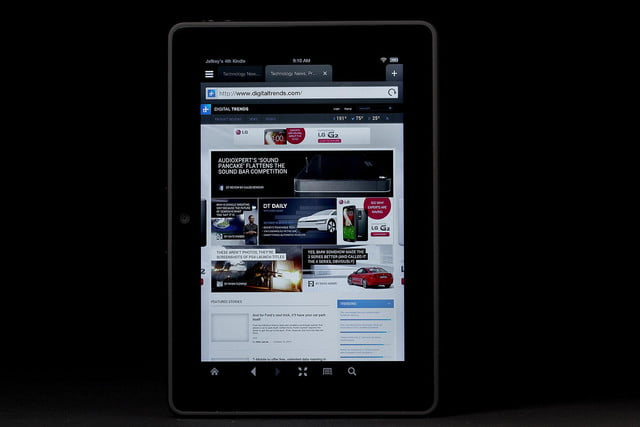 Kindle Fire HDX front browser