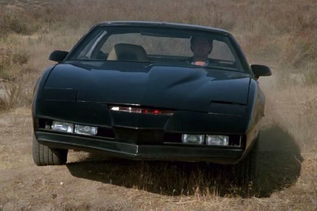 best hollywood high tech vehicles 10 geekiest cars in movies television kitt  1982 pontiac firebird trans am