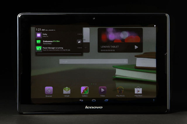 LeNovo Tablet A10 front home