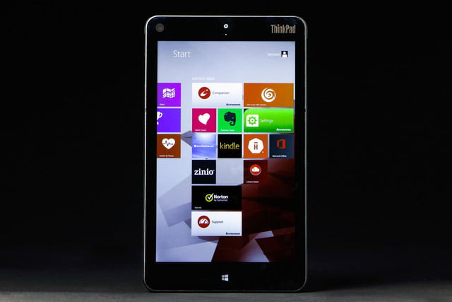 Lenovo ThinkPad 8 review tablet screen apps