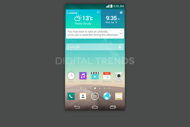 lg g3 homescreen screenshots leak exclusive android home