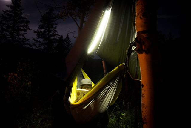 the luminoodle is a portable led light strip hammock