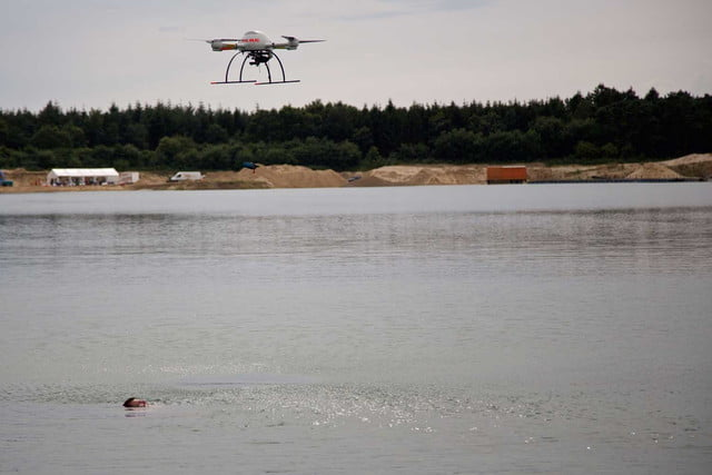 ab4410d66f0 German lifeguards are testing drones for rescuing swimmers. drone rescue  germany microdrones sar 4
