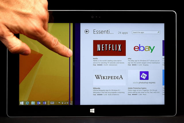Microsoft Surface 2 front touch