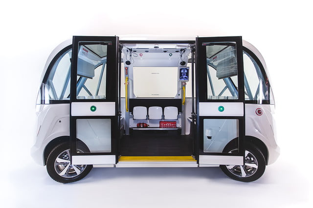 the challenges of driverless shuttles in smart cities navya autonomous shuttle 6
