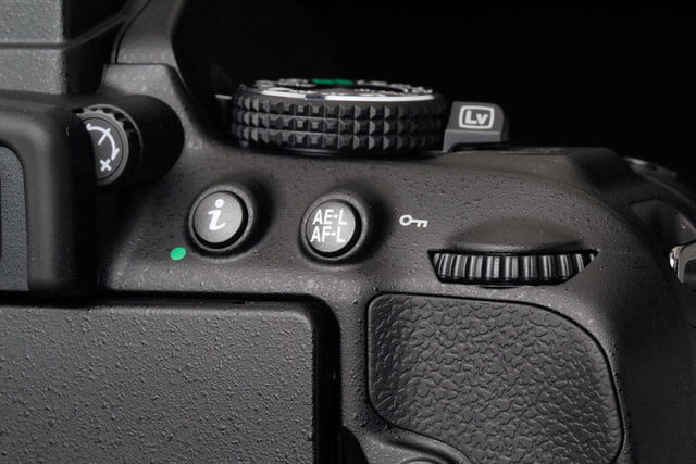 Nikon D5300 top back controls