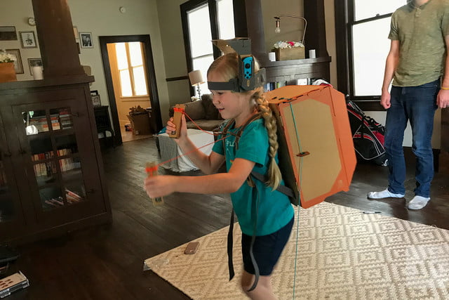 nintendo labo robot kit product experience review kid backpack
