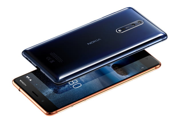 Nokia 8 copper and blue