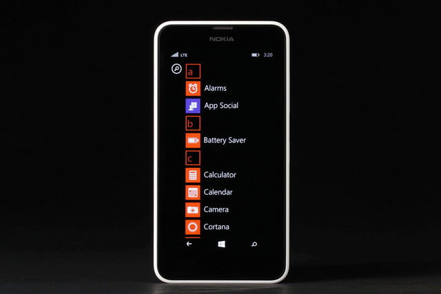 Nokia Lumia 635 front apps 3