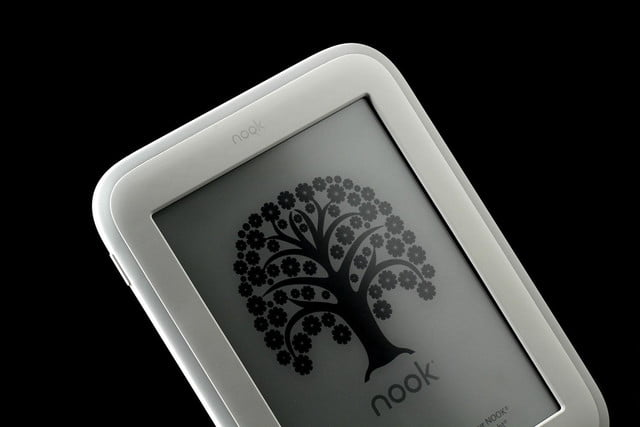 NOOK Glow top screen