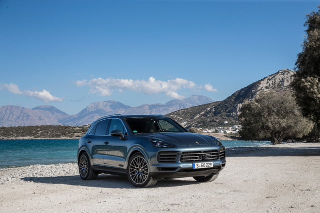 porsche cayenne s review front right angle