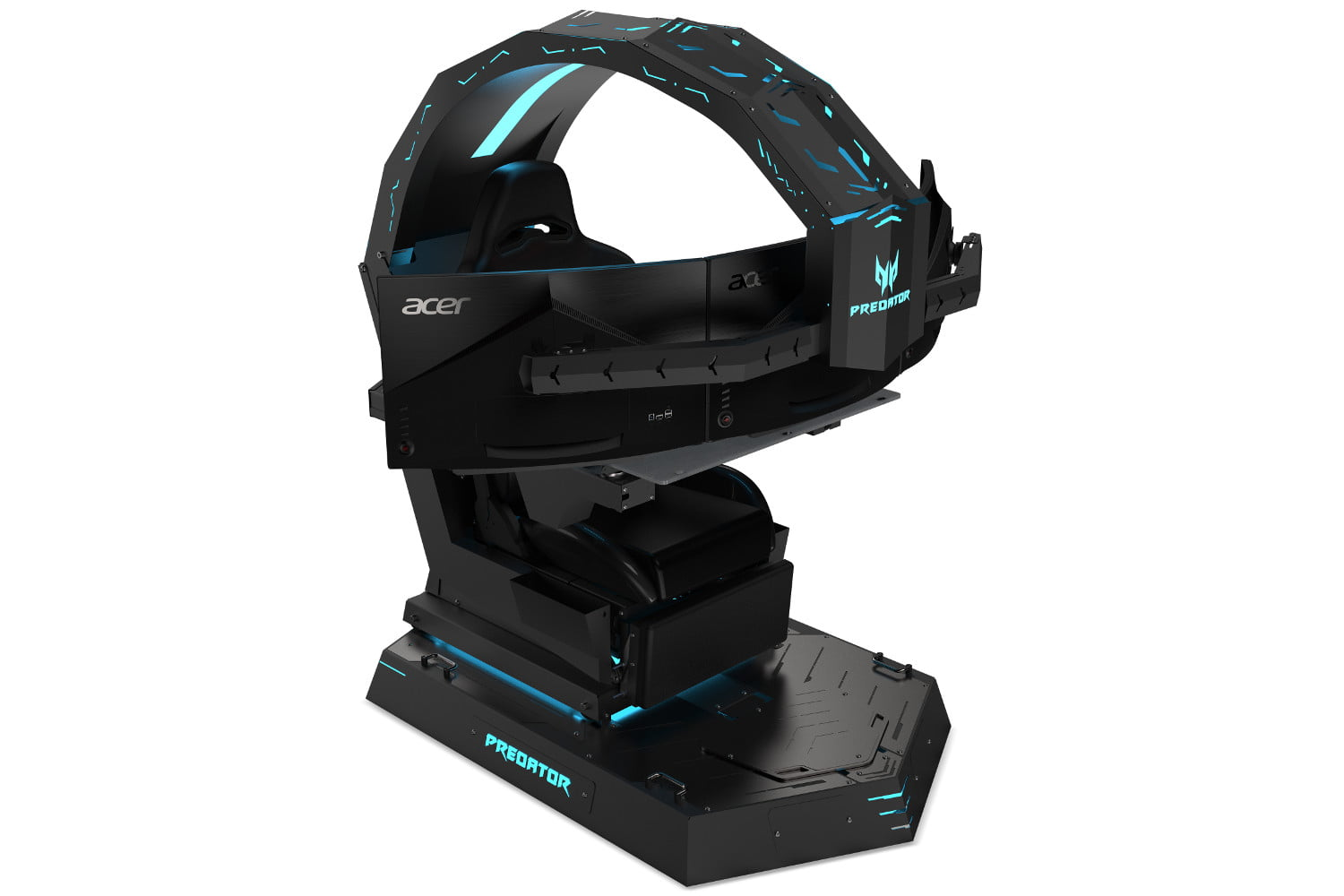 Acer's New Predator Chair is Titanic, Holds Three Displays ...