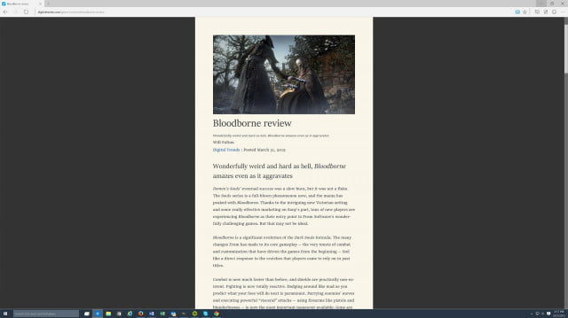 project spartan browser bloodborne review