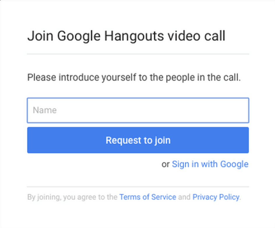 how to make a google hangout account