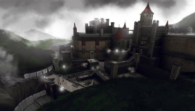 rise of the triad 2013 concept art castle level atmosphere