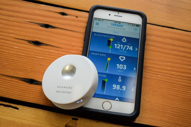 Scanadu Scout with phone