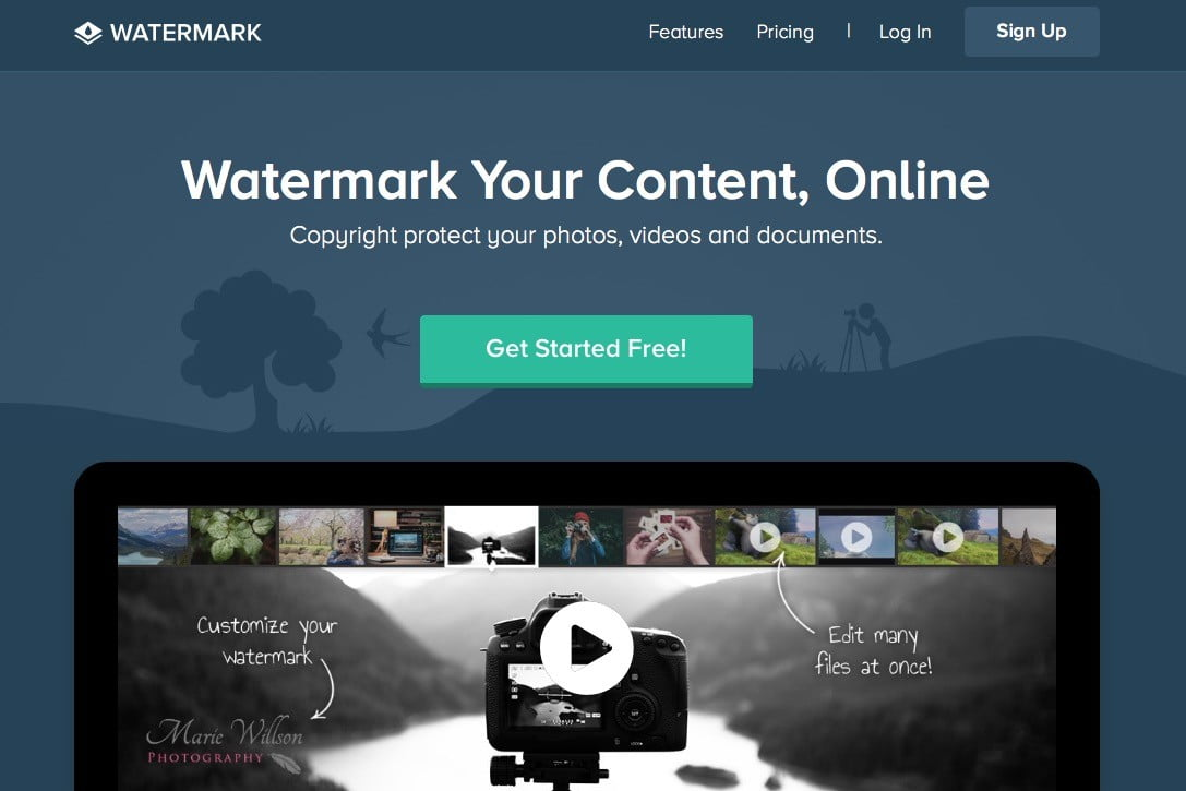 how to make a watermark for photos