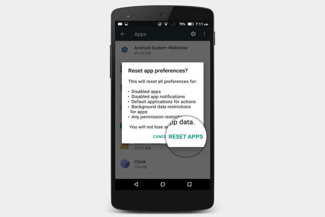 how to reset default apps in android settings all reset3