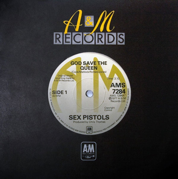 most expensive vinyl records sex pistols god save the queen