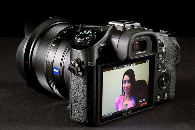 Sony DSC-RX10 review rear angle LCD