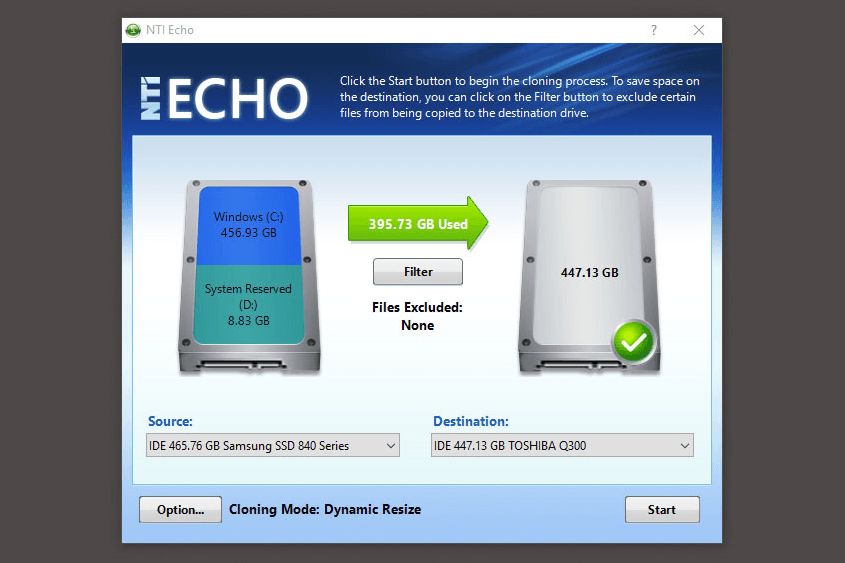 nti echo 3 for toshiba serial number