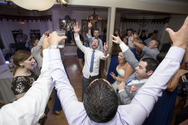nba photographer jack arent wedding dance floor action at the perry house in monterey  ca