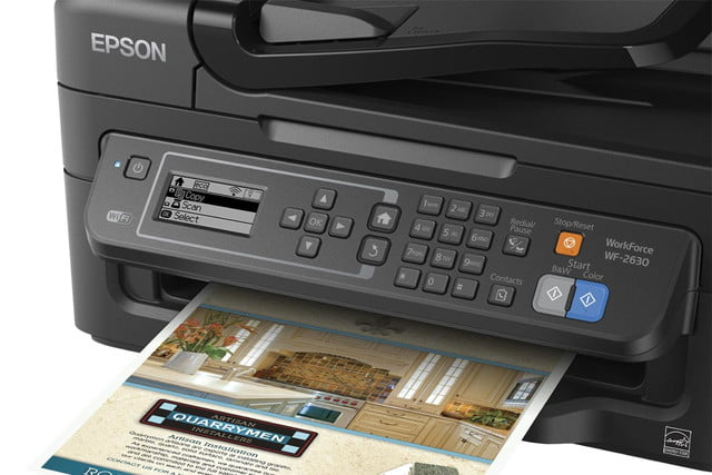 epson lowers price precisioncore inkjet tech new multifunction units workforce wf 2630 close up